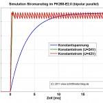 Simulation Stromanstiegszeit