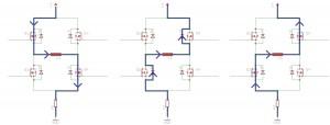 Strompfade bei fast-decay Stromregelung
