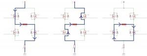 Strompfade bei slow-decay Stromregelung