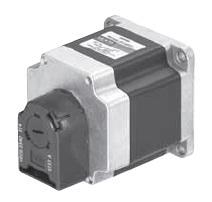 Schrittmotor (Typ PK266) mit rückseitig angeflanschtem Encoder