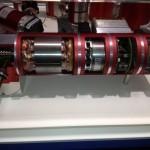 Geöffneter BLDC-Motor mit Getriebe und Encoder
