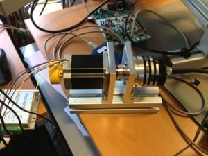 Testaufbau, Schrittmotor mit Encoder