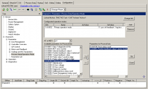 Anpassen des Prozessabbildes im Beckhoff Drivemanager
